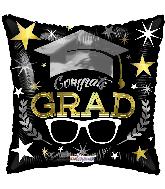 """9"""" Congrats Grad Glasses Foil Balloon"""