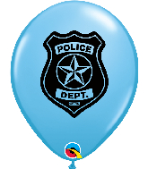 "11"" Police Dept. Pale Blue (50 Per Bag) Latex Balloons"