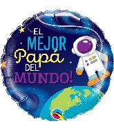 """18"""" Round Mejor Papa Astronaut Foil Balloon"""
