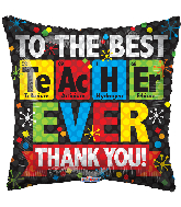 "18"" Best Teacher Ever Chemical Foil Balloon"