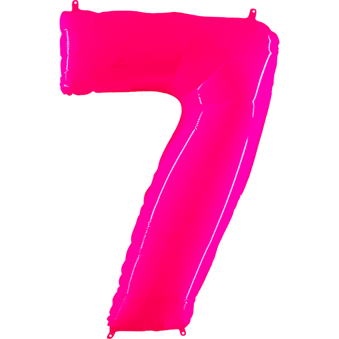 "40"" Foil Shape Balloon Number 7 Fluorescence Pink"