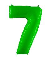 "40"" Foil Shape Balloon Number 7 Fluorescence Lime"