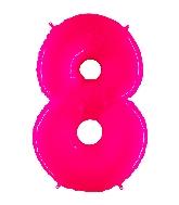 "40"" Foil Shape Balloon Number 8 Fluorescence Pink"