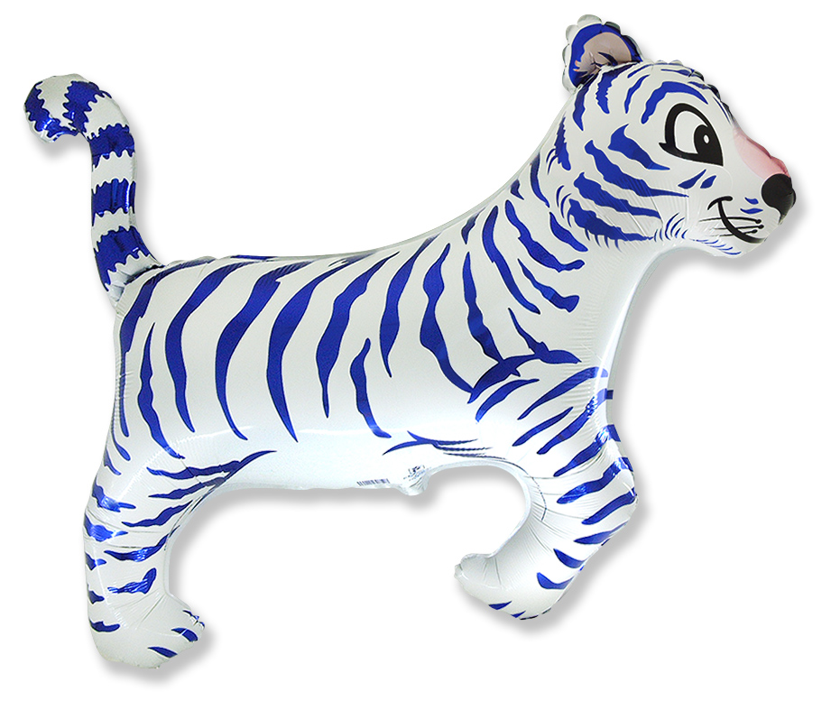 "30"" Tiger White Blue Stripes"