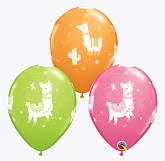 "11"" (May Contains Other Colors) Llama Balloons (50 Per Bag)"