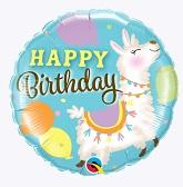 """18"""" Birthday Llama Foil Balloon"""