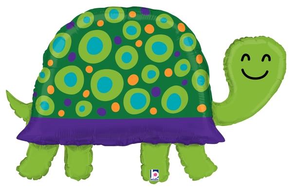 "40"" Shape Garden Turtle Foil Balloon"