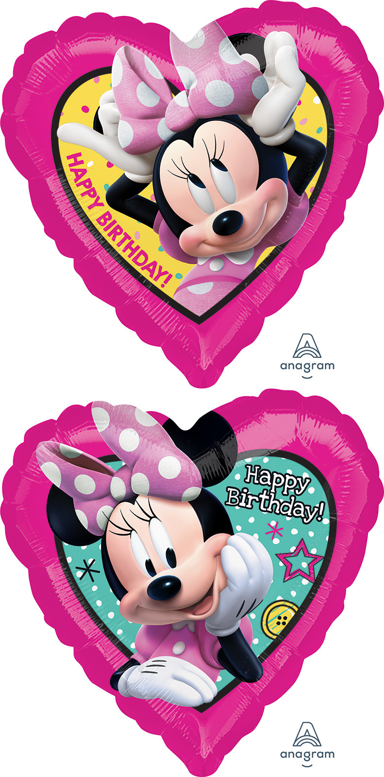 "18"" Minnie Happpy Helpers HBD Foil Balloon"