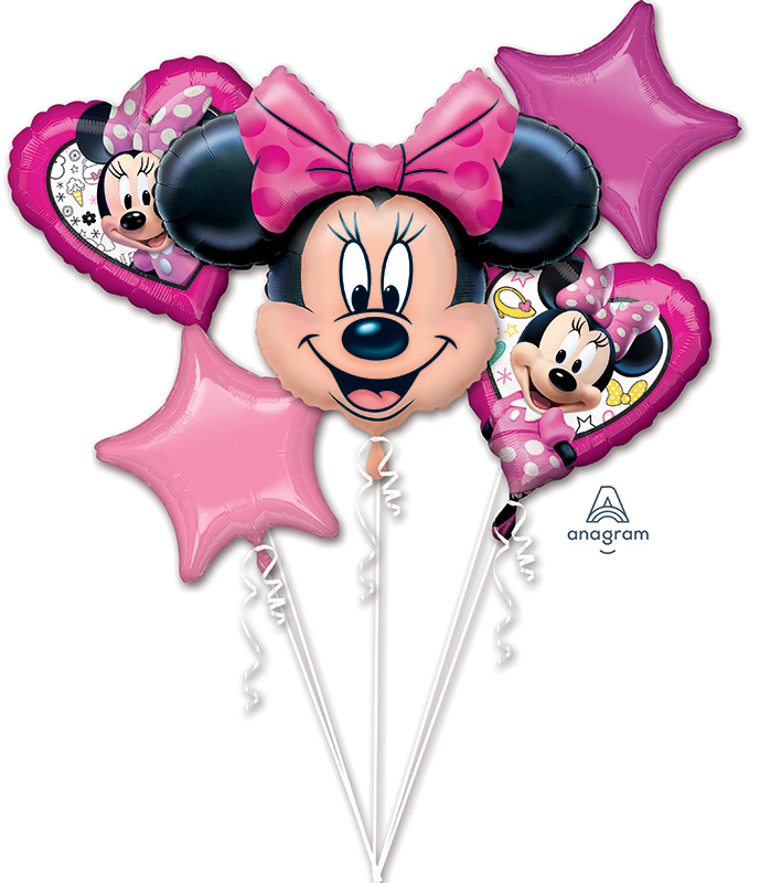 Minnie Happy Helpers Bouquet Foil Balloon