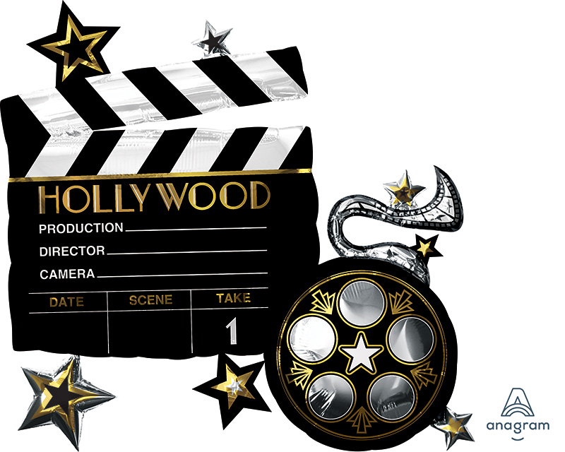 """30"""" Hollywood/Movies SuperShape Foil Balloon"""