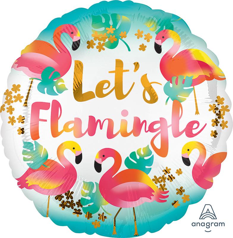 "18"" Let's Flamingle Foil Balloon"