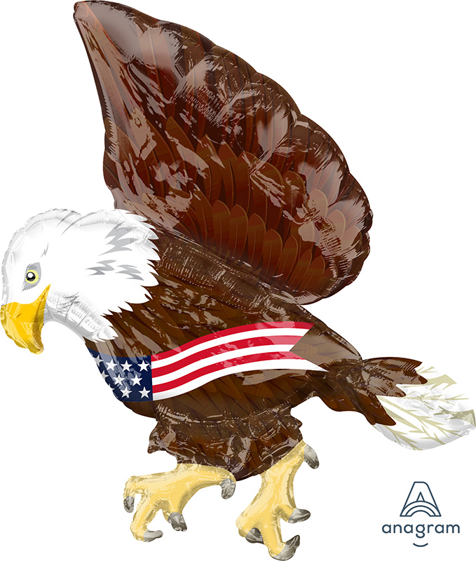 "30"" Patriotic Eagle UltraShape™ Foil Balloon"