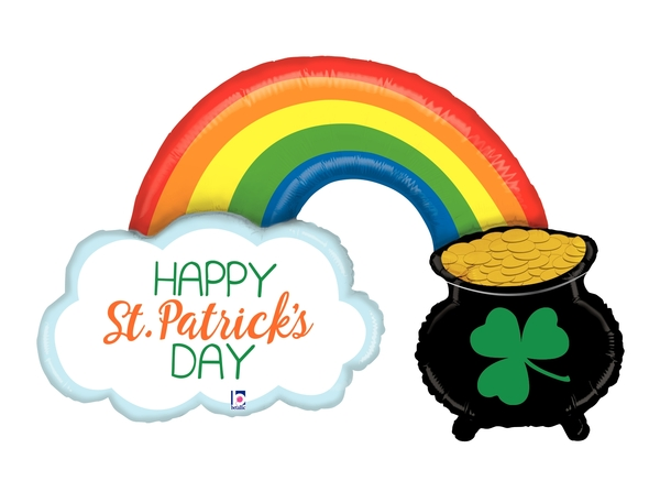 "47"" Foil Shape St. Pat's Pot of Gold Foil Balloon"
