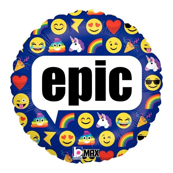 "18"" MAX Float Emoji Epic Foil Balloon"