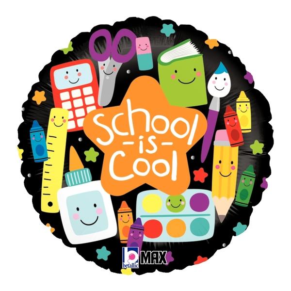 "18"" MAX Float School is Cool Foil Balloon"