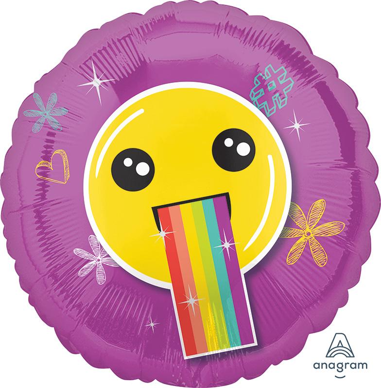 "18"" Selfie Celebration Smile Face Foil Balloon"