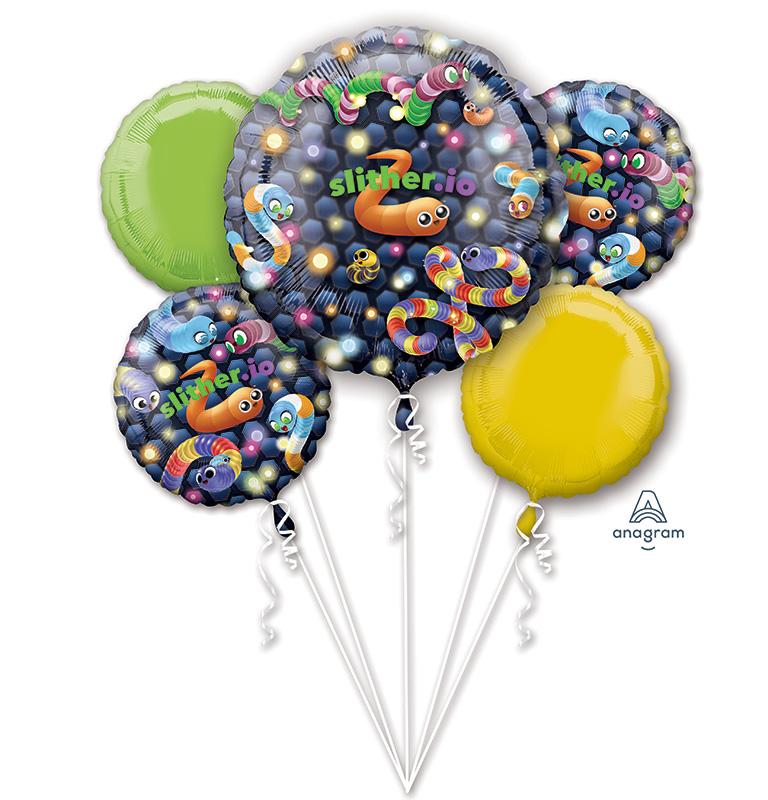 Bouquet Slither.io Foil Balloon