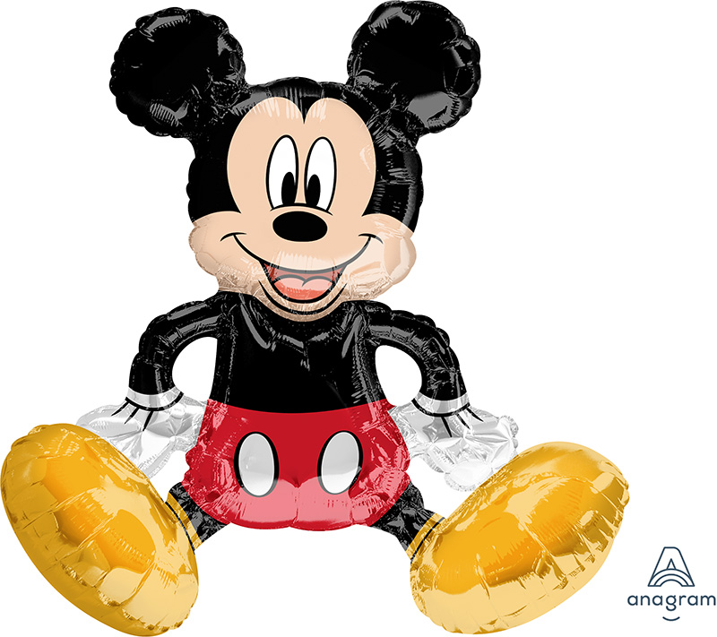 """18"""" Airfill Only Sitting Mickey Mouse Foil Balloon"""