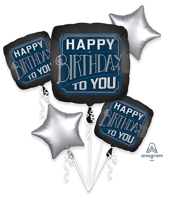 Bouquet Happy Birthday Man Foil Balloon