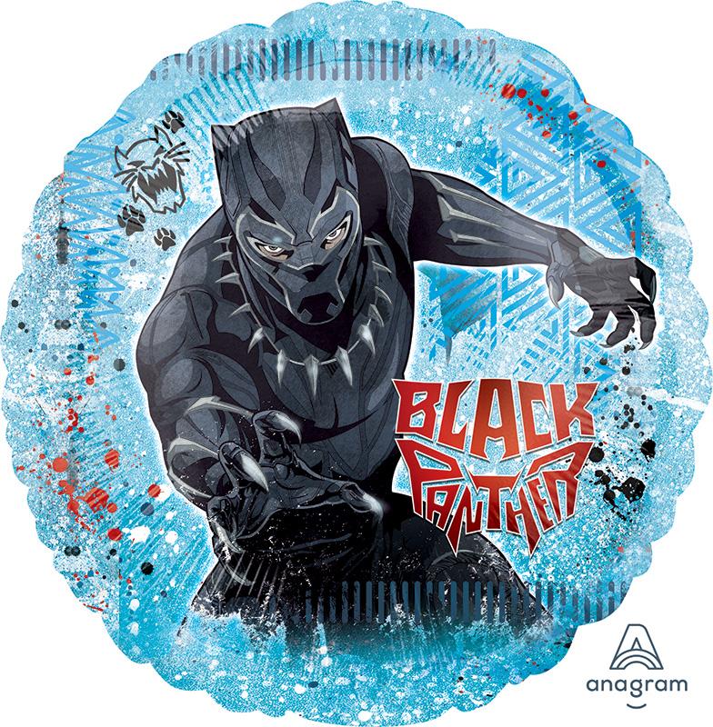 "28"" Jumbo Black Panther Foil Balloon"