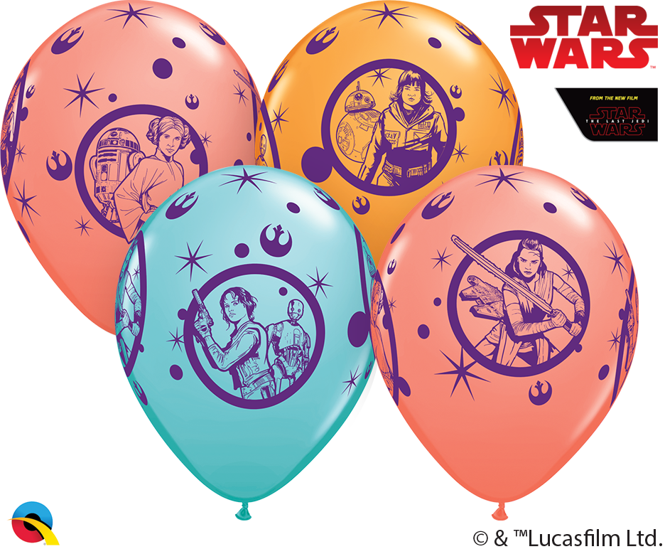 "11"" Latex Balloons Star Wars: 25 Per Bag Assorted"