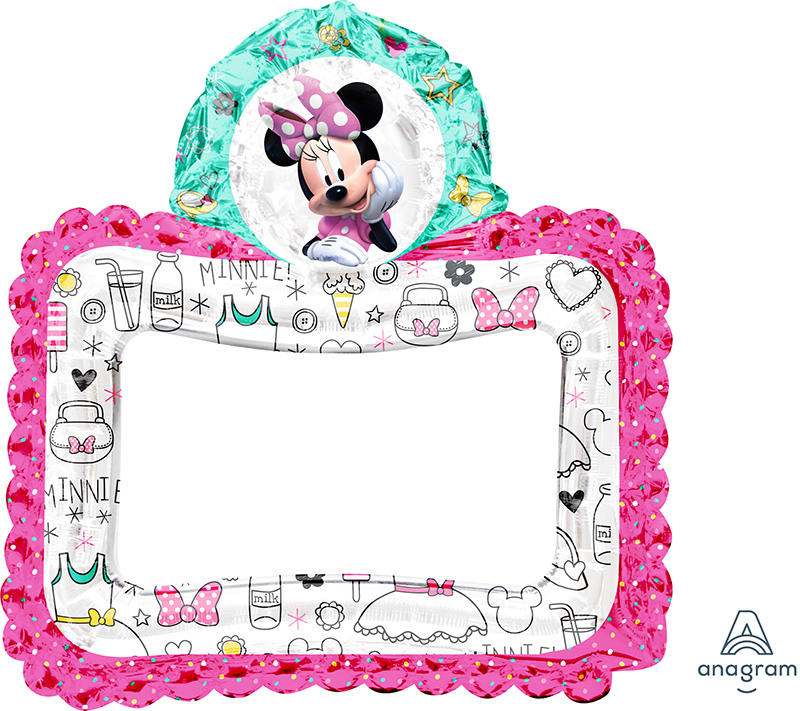"""27"""" Airfill Only Minnie Happy Helpers Foil Balloon"""