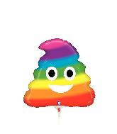 "14"" Airfill Only Mini Emoji Rainbow Poo Foil Balloon"