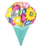 "31"" Multi-Sided Dimensionals Birthday Foil Balloon"