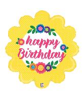 """29"""" Foil Shape Flower Birthday Foil Balloon"""