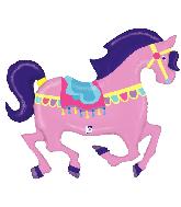 "48"" Foil Shape Carousel Horse Foil Balloon"
