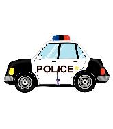 """34"""" Foil Shape Police Car Foil Balloon"""