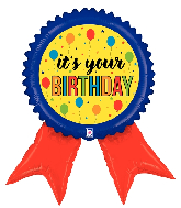 "34"" Foil Shape Birthday Ribbon Foil Balloon"