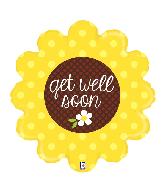 """29"""" Foil Shape Get Well Sunflower Foil Balloon"""