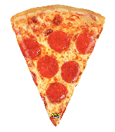 """34"""" Mighty Bright Shape Mighty Pizza Foil Balloon"""