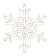 """38"""" Clear Shape Clear Snowflake Foil Balloon"""
