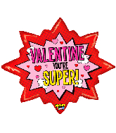 "32"" Mighty Bright Super Valentine Foil Balloon"