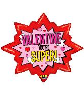 "32"" Mighty Bright Super Valentine Foil Balloon"