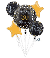 Deluxe Shape Sparkling Birthday Personalize It! Foil Balloon