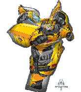 "37"" Jumbo Bumble Bee Tranformers Foil Balloon"