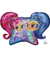 "31"" Jumbo Shimmer and Shine Foil Balloon"