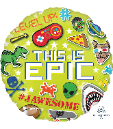 """18"""" Epic Party This is Epic Foil Balloon"""
