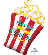 "29"" Jumbo Carnival Popcorn Foil Balloon"