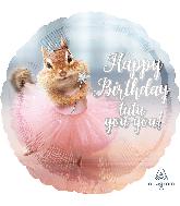 """18"""" Avanti Birthday Ballerina Foil Balloon"""
