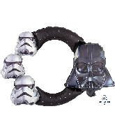 """29"""" Airfill Only Star Wars Frame Foil Balloon"""