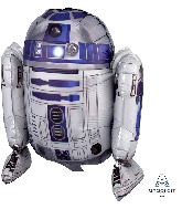 """15"""" Airfill Only Sitting R2D2 Foil Balloon"""
