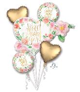 Bouquet Floral Baby Girl Foil Balloon