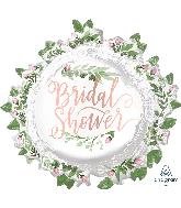 """30"""" Jumbo Love & Leaves Bridal Shower Foil Balloon"""