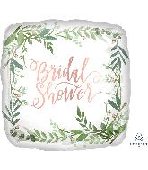 """18"""" Love & Leaves Bridal Shower Foil Balloon"""
