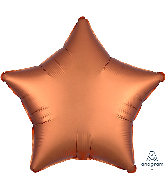 "18"" Satin Luxe Amber Star Foil Balloon"
