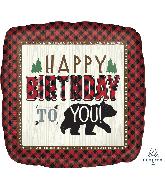 """28"""" Jumbo Little Lumberjack Birthday Foil Balloon"""